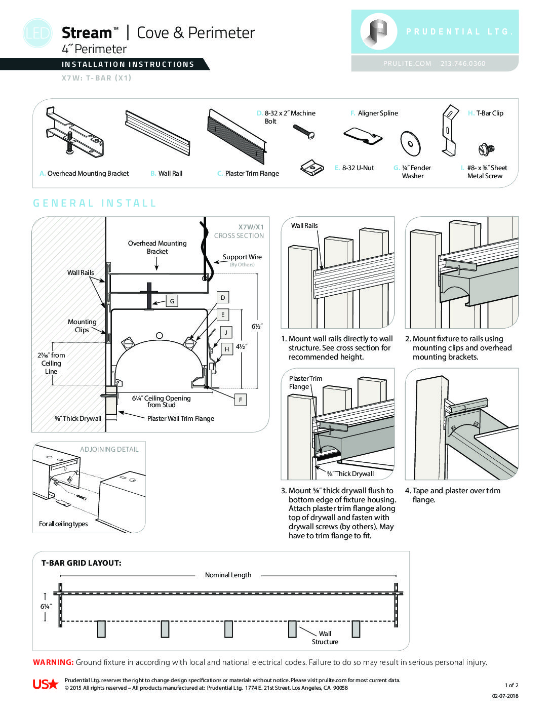 Installation Instructions - 5/20 - Prudential Lighting Company